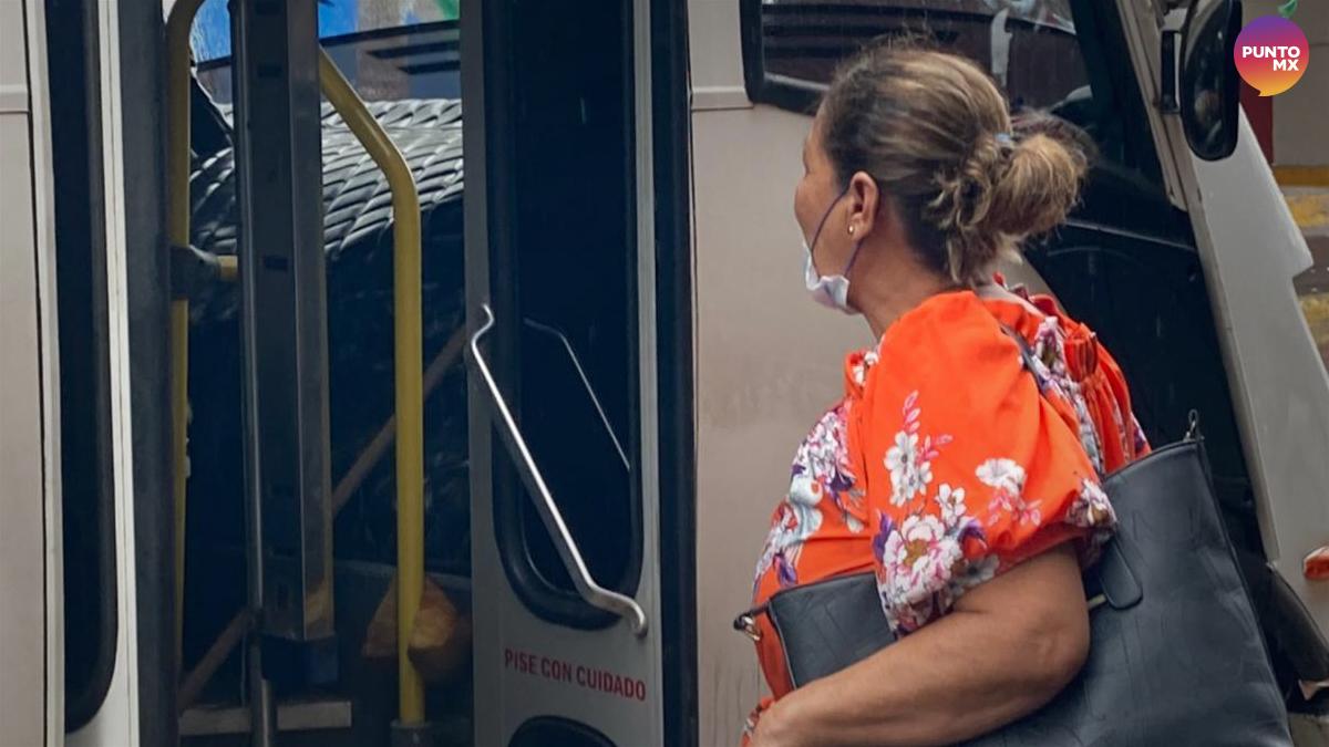 transporte público camiones urbanos